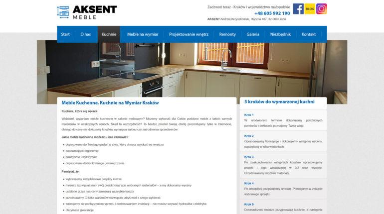 Kuchnie na wymiar Kraków - Aksent.pl