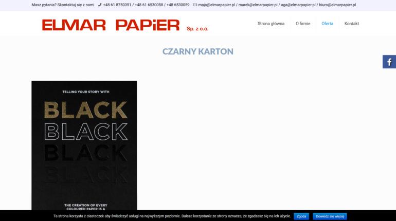 Czarny karton - atrakcyjna oferta w ElmarPapier