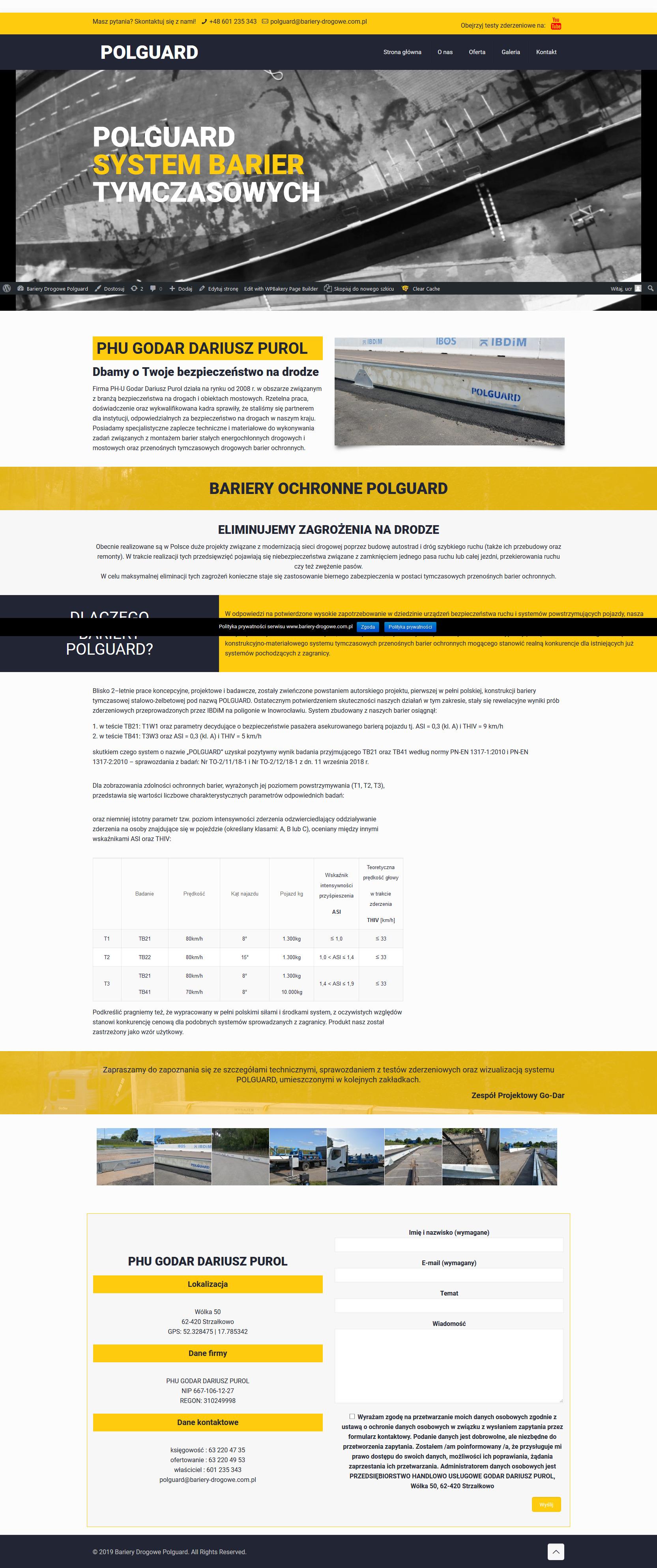 Bariery Polguard - bariery tymczasowe i przestawne, oznakowanie tymczasowe dróg