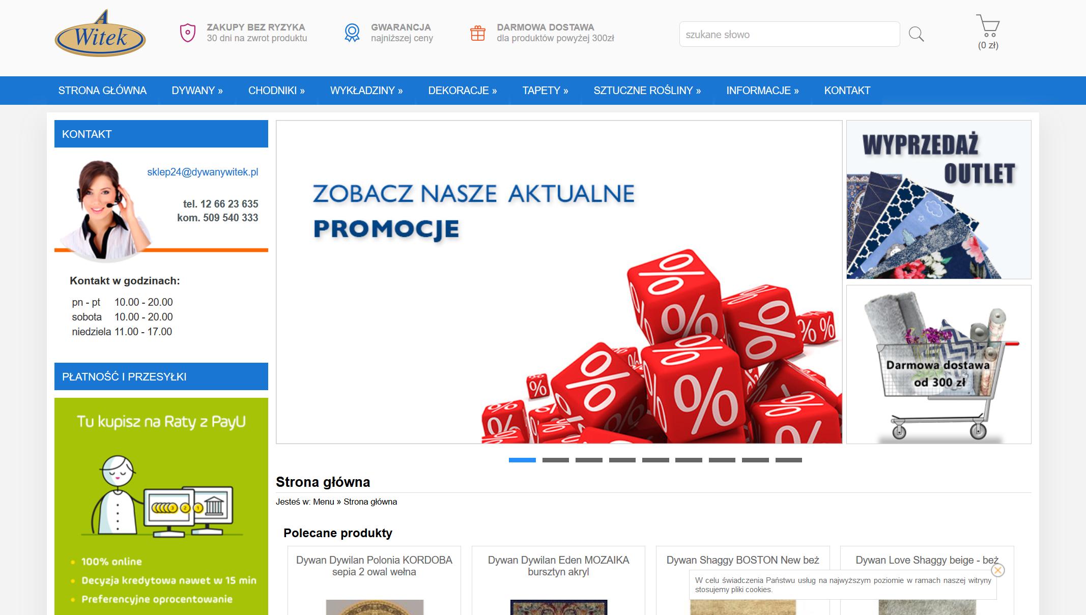 Sklep internetowy z dywanami - Dywany Witek Kraków