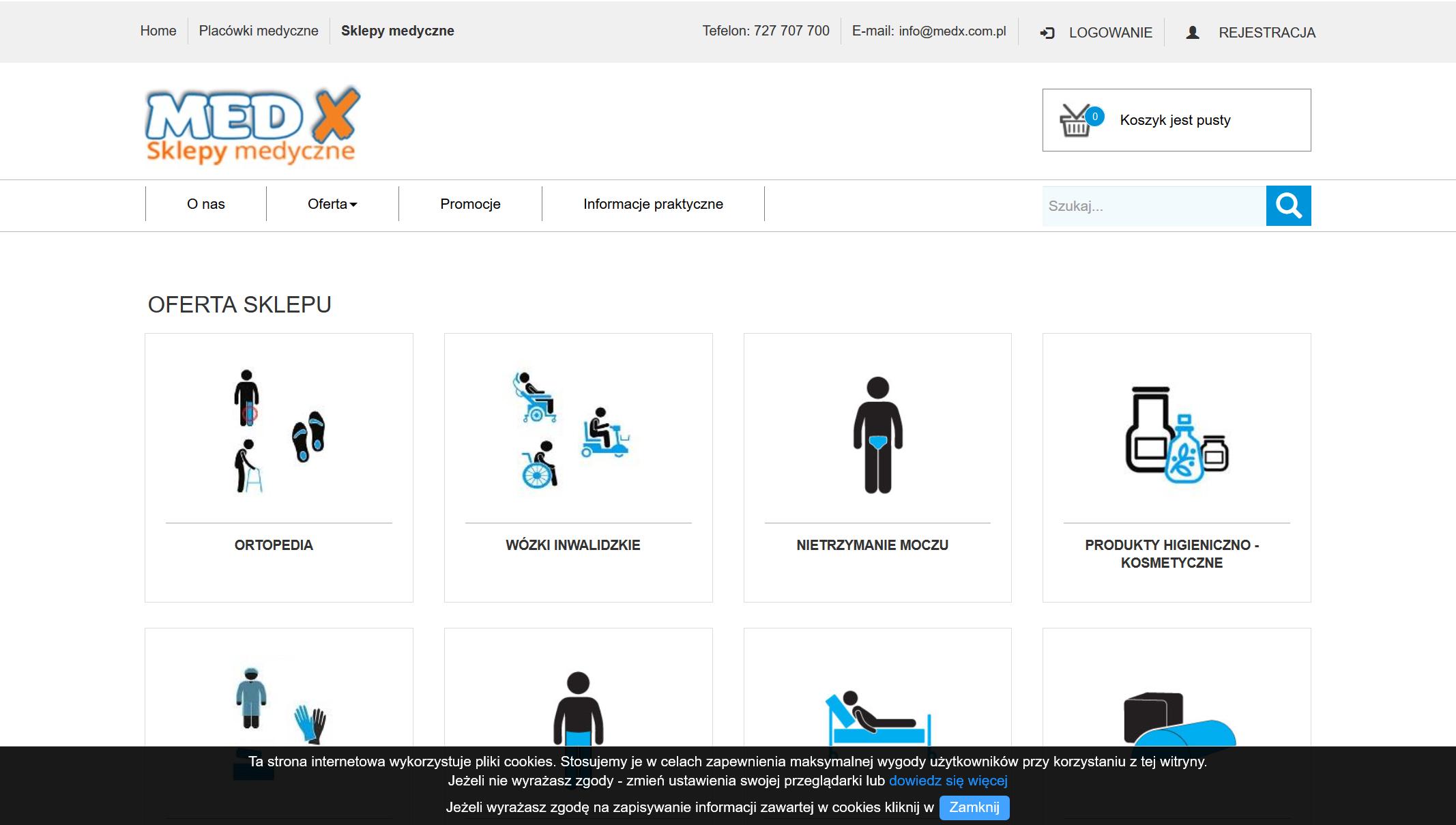 Sklep medyczny MEDX - akcesoria medyczne i sprzęt medyczny