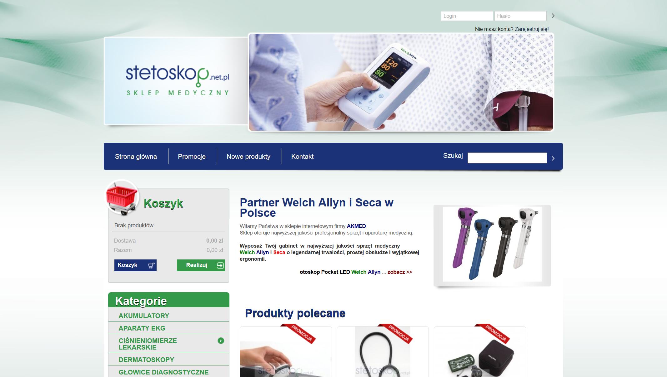 Sprzęt Medyczny, Sklep dla Lekarza - Stetoskop net pl