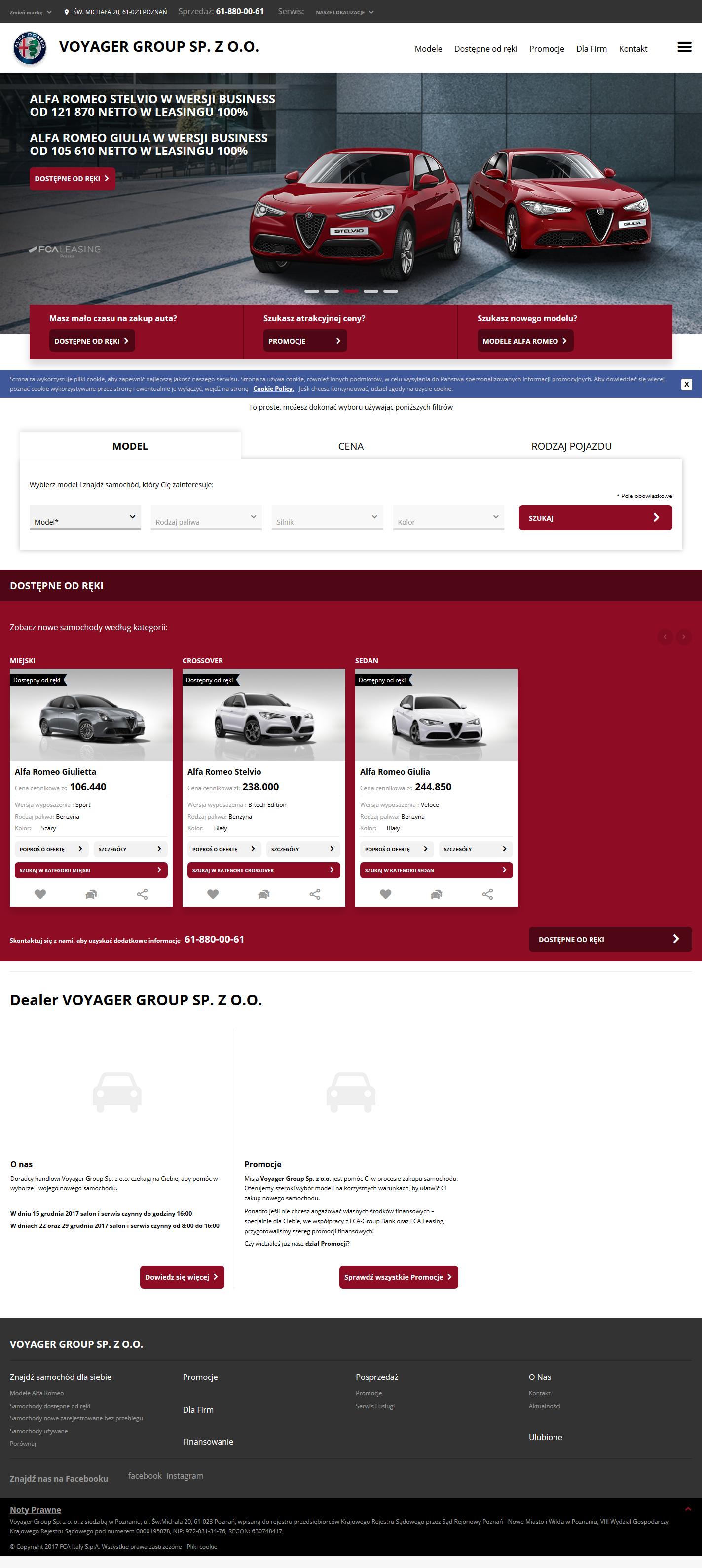 VOYAGER GROUP SP Z O O - Oficjalny dealer Alfa Romeo