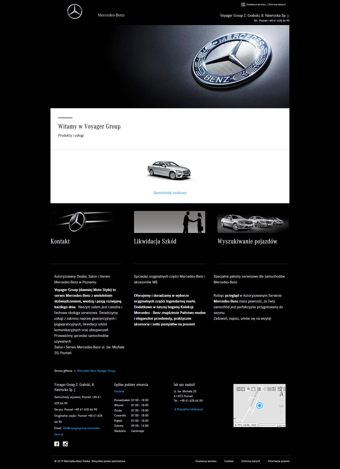 Voyager Group - Autoryzowany Salon, Dealer i Serwis Mercedes Benz Poznań, Oryginalne Części Mercedes